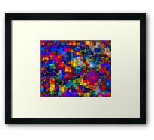 Cloudy Cubes Framed Print