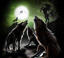 wolf moon unicorn et by catchafish