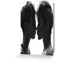 Cara Delevingne and Rita Ora Greeting Card
