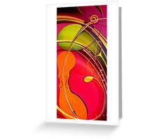 Orange Violin Greeting Card