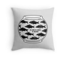 I'm living in a world of goldfish - Mycroft H Throw Pillow