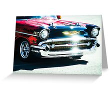 Hot Chevy. Greeting Card