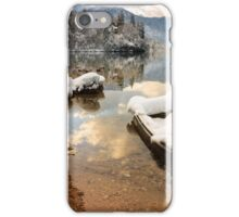 Snow covered boat on Lake Bohinj in Winter iPhone Case/Skin