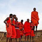 Masai's dancing by Carlos Rodriguez