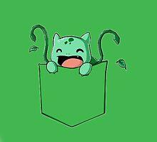 Pokemon Bulbasaur on pocket by mikelpegel