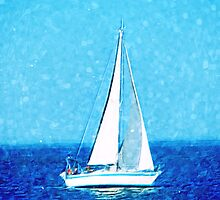 Sailboat at sea by yulia-rb