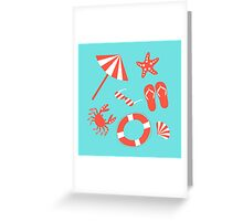 Beach pattern Greeting Card
