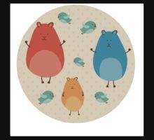 Cartoon funny hamsters Baby Tee