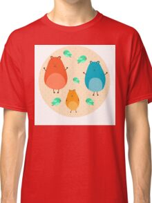 Cartoon funny hamsters Classic T-Shirt