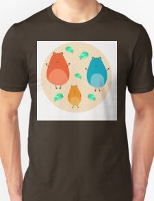 Cartoon funny hamsters Unisex T-Shirt