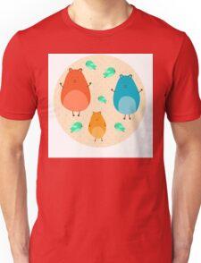 Cartoon funny hamsters Unisex T-Shirt