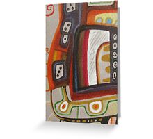 Funky curls Greeting Card