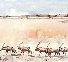 Gemsbuck in the Kalahari by Maree  Clarkson