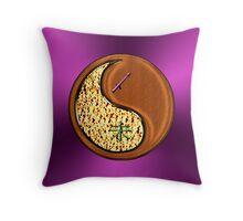 Sagittarius & Goat Yin Wood Throw Pillow
