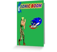 Sonic Boom Greeting Card