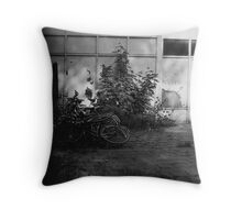 Bike Mountain Throw Pillow