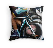 Astana warm up Throw Pillow