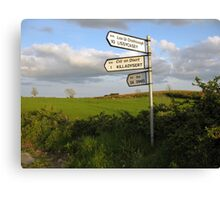 County Clare signposts Canvas Print