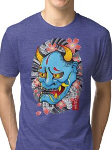 Hanya Demon Mask Tri-blend T-Shirt