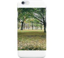 Hyde Park Trees in Autumn iPhone Case/Skin