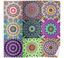 Abstract Mandala Collage Poster