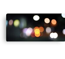 Colourful Patch of Bokeh Canvas Print