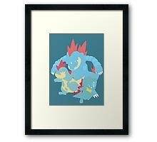Totodile Evolution Framed Print
