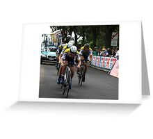 300 mt to the finish line Greeting Card