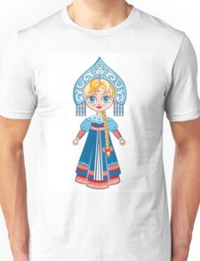 Doll in a national Russian suit Unisex T-Shirt