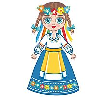 Doll in a national Ukrainian suit by ZoyaMiller