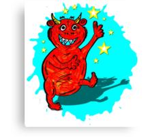 Orange Monster Canvas Print
