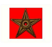 Ancient Gold Star Pendant Art Print