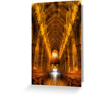 Enter the light Greeting Card