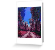 Pink Landscape III Greeting Card