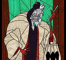 Cruella - Stained glass villains by UncleFrogface