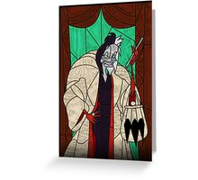 Cruella - Stained glass villains Greeting Card