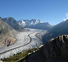 Aletsch glacier by Manfred Bruttel