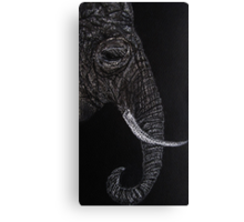 Elephant Drawing with Pastel Pencil Canvas Print