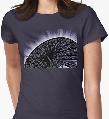 Ferris Wheel Womens Fitted T-Shirt