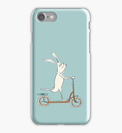scooter - blue iPhone Case/Skin