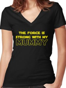 Mummy Force Women's Fitted V-Neck T-Shirt