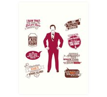 Anchorman Quotes - Funny T-Shirt - Movies - Films - Ron Burgundy Art Print