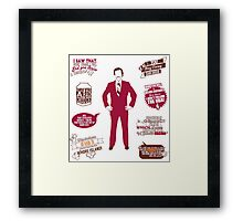 Anchorman Quotes - Funny T-Shirt - Movies - Films - Ron Burgundy Framed Print