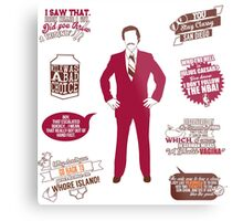 Anchorman Quotes - Funny T-Shirt - Movies - Films - Ron Burgundy Metal Print