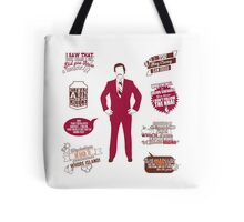 Anchorman Quotes - Funny T-Shirt - Movies - Films - Ron Burgundy Tote Bag