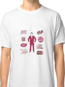 Anchorman Quotes - Funny T-Shirt - Movies - Films - Ron Burgundy Classic T-Shirt
