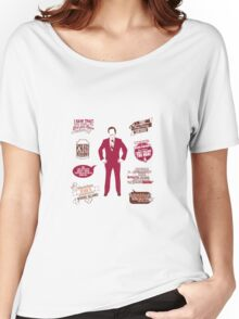 Anchorman Quotes - Funny T-Shirt - Movies - Films - Ron Burgundy Women's Relaxed Fit T-Shirt