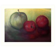Pastel Apples Art Print
