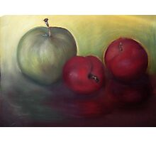 Pastel Apples Photographic Print