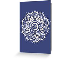 White Lotus (Blue) Greeting Card